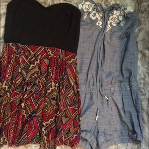 Dress and romper